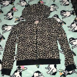 Juicy Couture leopard print hoodie girls M EUC